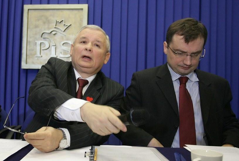 Jarosław Kaczyński i Zbigniew Ziobro w 2008 roku /Stefan Maszewski /Reporter