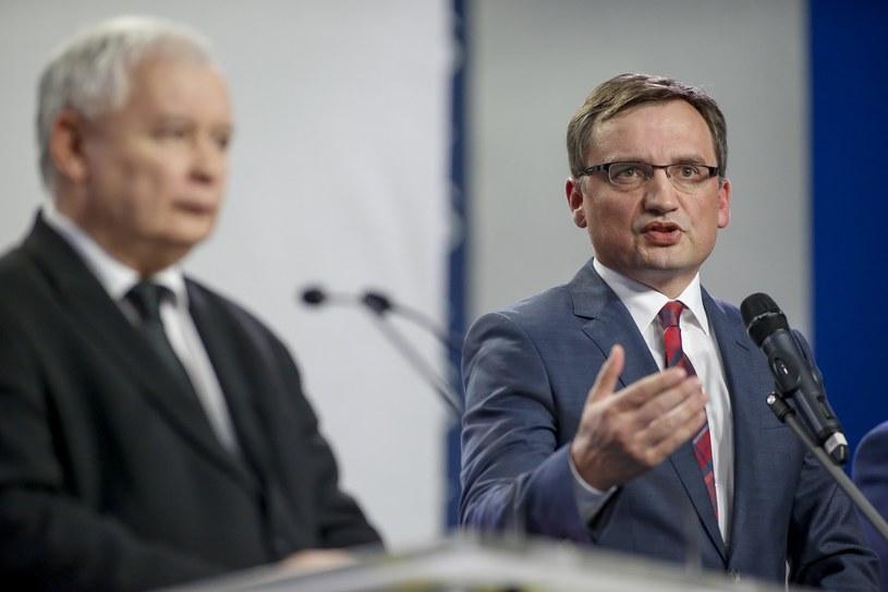 Jarosław Kaczyński i Zbigniew Ziobro /Andrzej Iwańczuk /East News