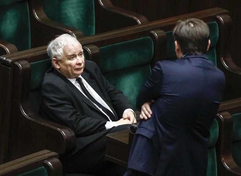 Jarosław Kaczyński i Zbigniew Ziobro /Jerzy Dudek /Agencja FORUM