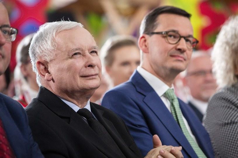 Jarosław Kaczyński jest zadowolony z efektu wizyty Mateusza Morawieckiego w Brukseli /Marek Maliszewski  /Reporter