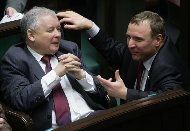 Jarosław Kaczyński (L) i Jacek Kurski (P). Fot. Stefan Maszewski /Reporter