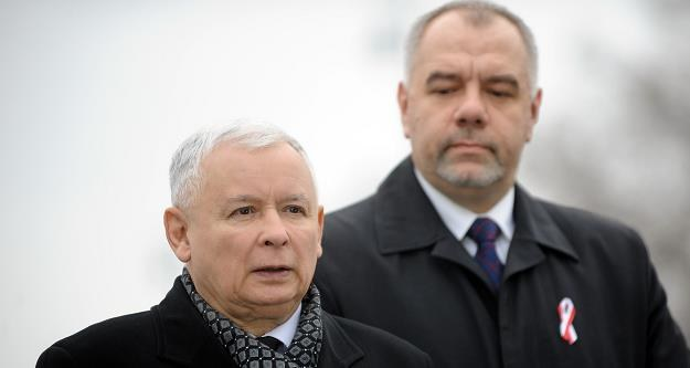 Jarosław Kaczyński (L), Jacek Sasin. Fot. Maciej Gillert East News /Agencja SE/East News