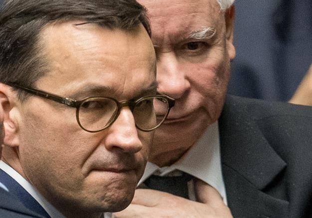 Jarosław Kaczyński, Mateusz Morawiecki. Fot. Andrzej Iwańczuk /Reporter