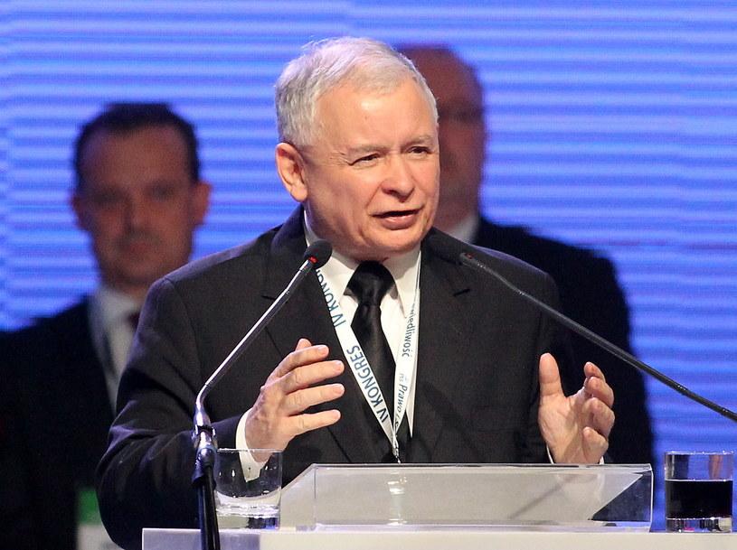 Jarosław Kaczyński na Kongresie PiS w Sosnowcu /Grzegorz Momot /PAP