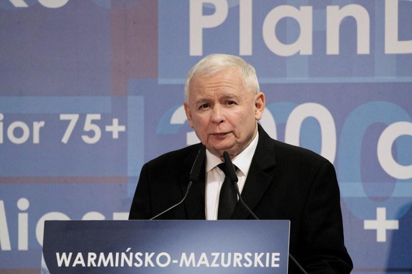 Jarosław Kaczyński na konwencji PiS w Olsztynie /Tomasz Waszczuk /PAP