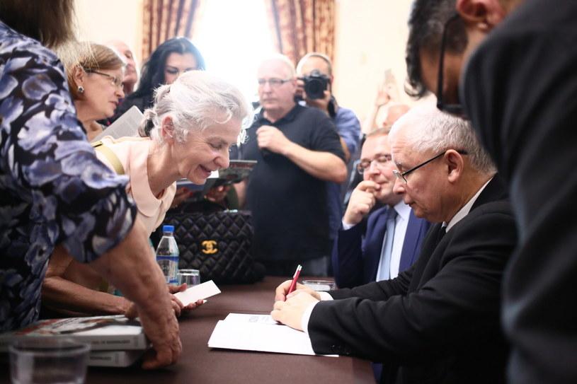 Jarosław Kaczyński na spotkaniu z czytelnikami /Leszek Szymański /PAP