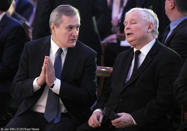 Jaroslaw Kaczyński (P) i Piotr Gliński. Fot. Jan Bielecki /Agencja SE/East News