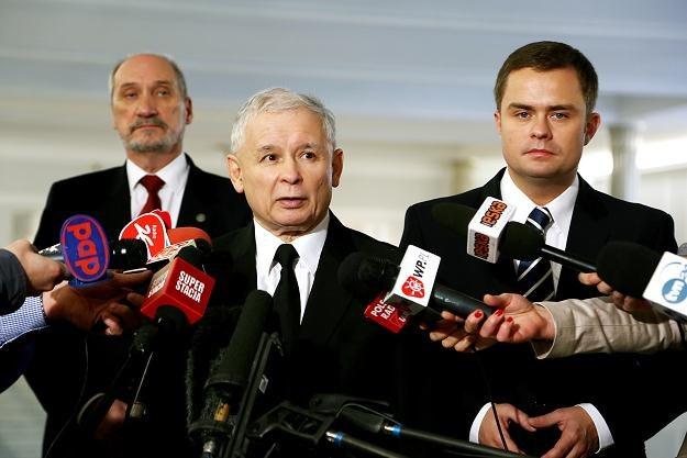 Jarosław Kaczyński po konferencji NPW /PAP
