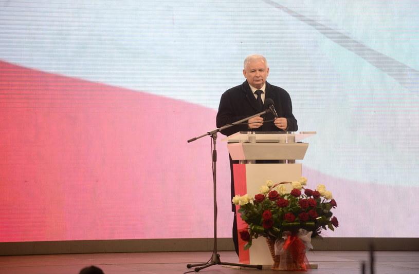 Jarosław Kaczyński podczas Apelu Pamięci /Bartłomiej Zborowski /PAP