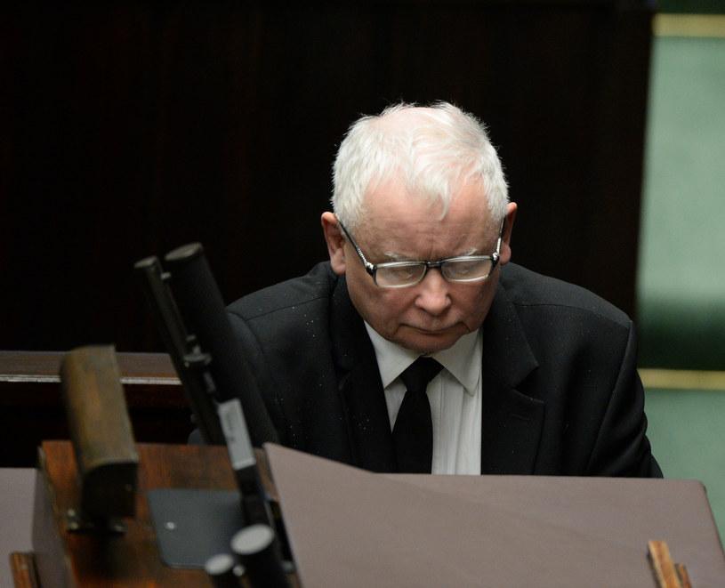 Jarosław Kaczyński podczas głosowania w Sejmie /Jan Bielecki /East News