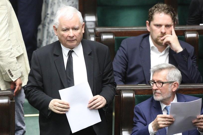 Jarosław Kaczyński podczas jednego z posiedzeń Sejmu /Tomasz Jastrzebowski/REPORTER /Reporter