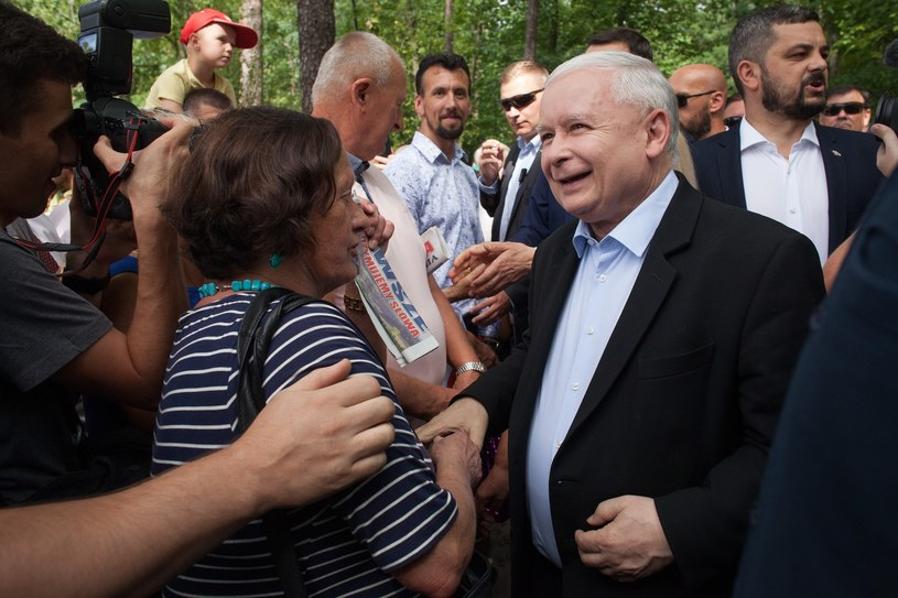 Jarosław Kaczyński podczas kampanii wyborczej /Stefan Maszewski /Reporter