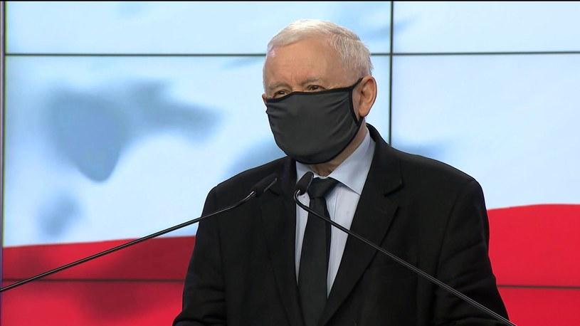 Jarosław Kaczyński podczas konferencji prasowej /Screen z Polsat News /Polsat News
