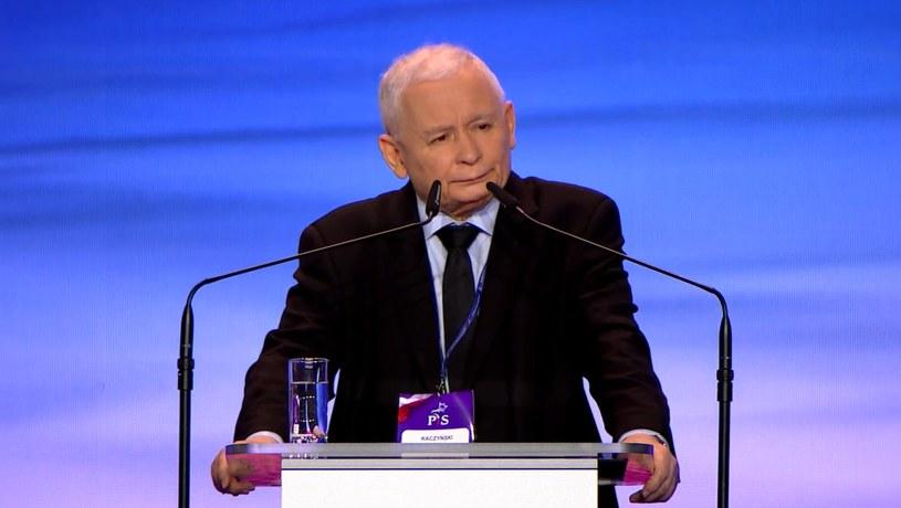 Jarosław Kaczyński podczas kongresu PiS /YouTube