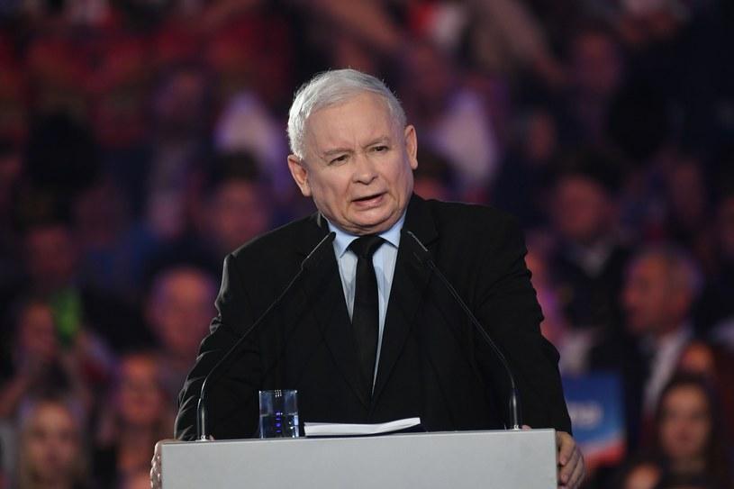 Jarosław Kaczyński podczas konwencji PiS w Lublinie /Jacek Dominski/REPORTER /East News