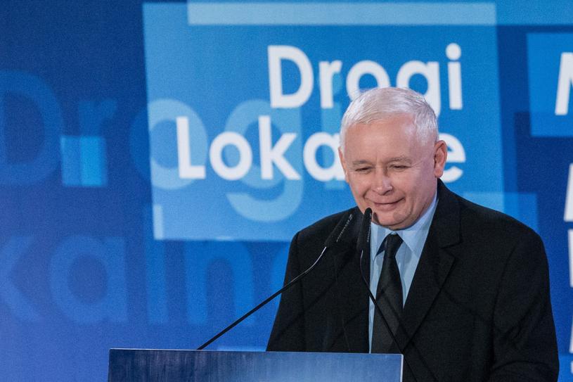 Jarosław Kaczyński podczas konwencji samorządowej Prawa i Sprawiedliwości we Wrocławiu /Krzysztof Kaniewski /Reporter