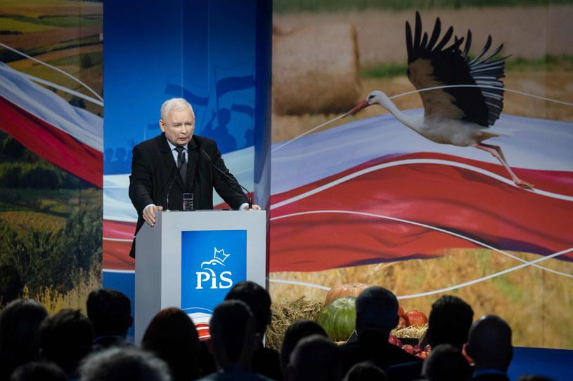 Jarosław Kaczyński podczas konwencji w Kielcach /WOJTEK RADWANSKI / AFP /East News