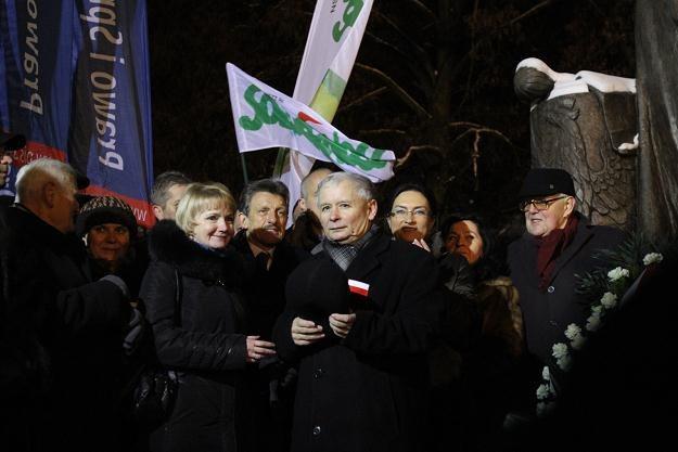 Jarosław Kaczyński podczas ostatniego przemówienia /PAP