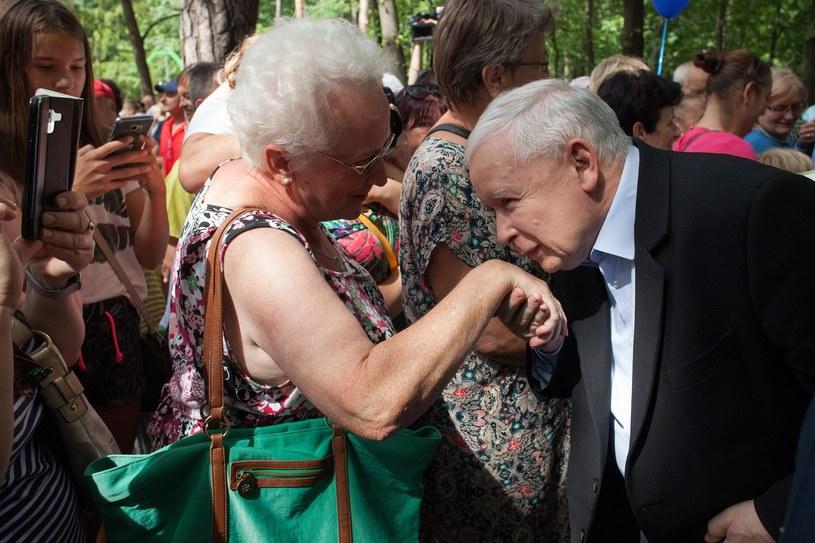 Jarosław Kaczyński podczas spotkania z wyborcami w Stalowej Woli, sierpień 2019 / Stefan Maszewski  /Reporter