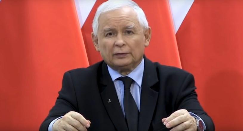 Jarosław Kaczyński podczas swojego wystąpienia, fot. screen z YouTube /materiały prasowe