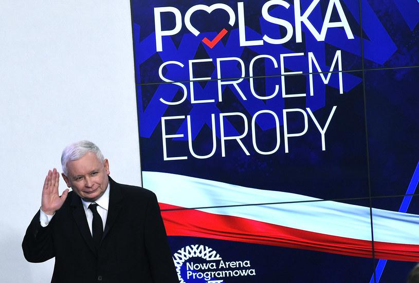 Jarosław Kaczyński podczas wieczoru wyborczego w sztabie PiS / Adam Chelstowski / FORUM    /FORUM