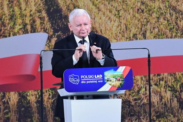 Jarosław Kaczyński podczas wyjazdowego posiedzenia klubu parlamentarnego Prawa i Sprawiedliwości /Piotr Polak /PAP