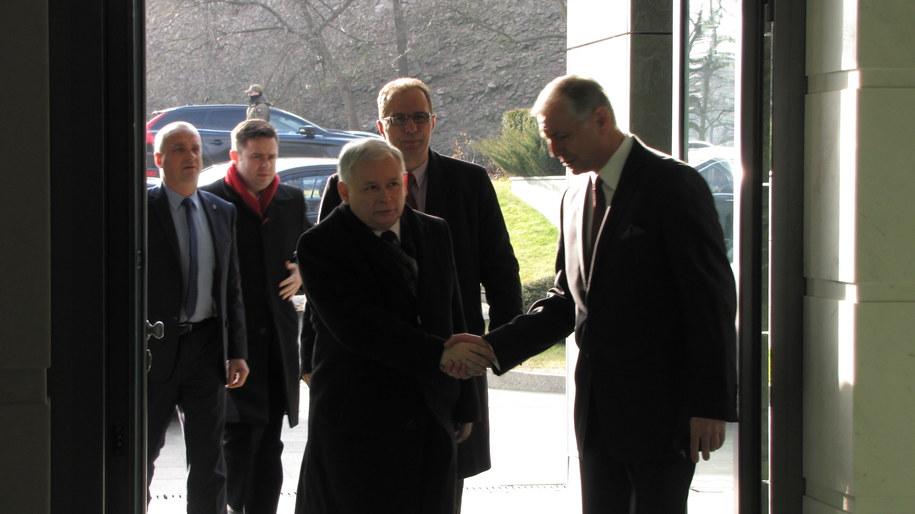 Jarosław Kaczyński przed spotkaniem Rady Bezpieczeństwa Narodowego /Monika Gosławska /RMF FM