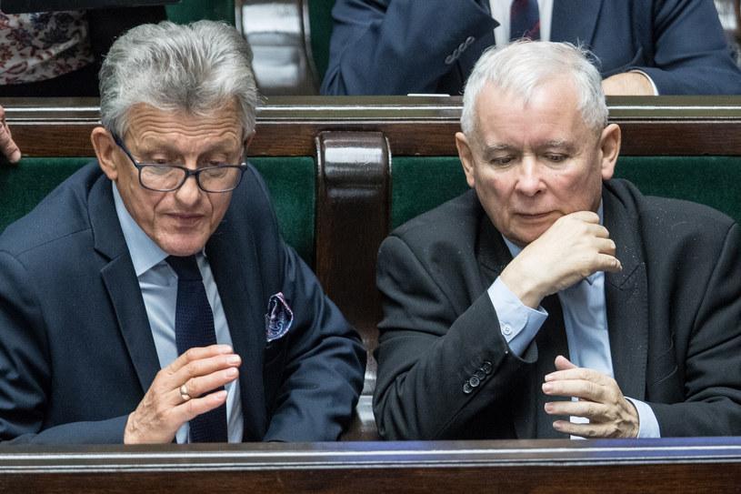 Jarosław Kaczyński: Stanisław Piotrowicz jako prokurator w PRL nie zrobił nic złego /Andrzej Iwańczuk /Reporter