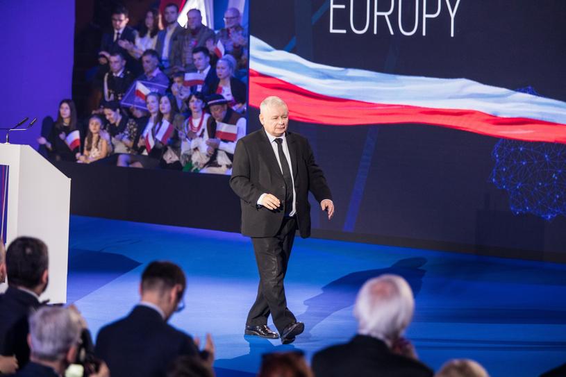Jarosław Kaczyński w eleganckim niemieckim garniturze /Jan Graczyński /East News
