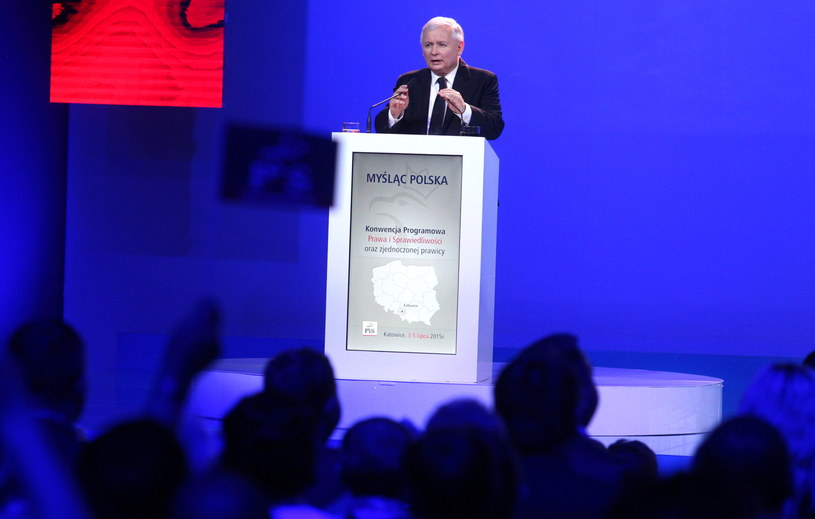 Jarosław Kaczyński w Katowicach /Andrzej Grygiel /PAP