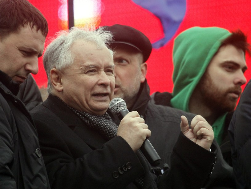 Jarosław Kaczyński w Kijowie /PAP/EPA