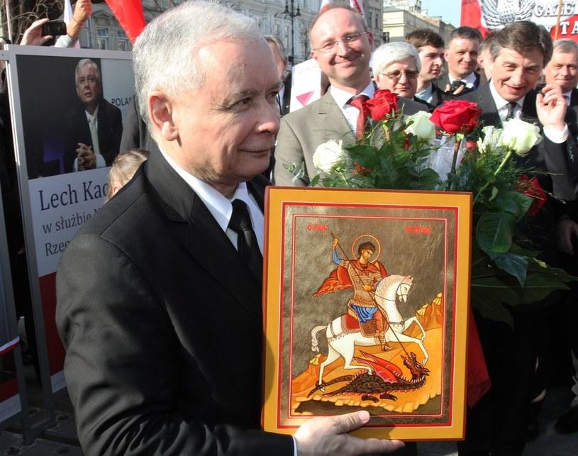Jarosław Kaczyński w Krakowie /Jacek Bednarczyk /PAP