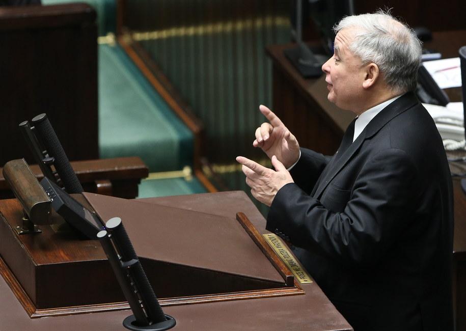 Jarosław Kaczyński w Sejmie /Rafał Guz /PAP