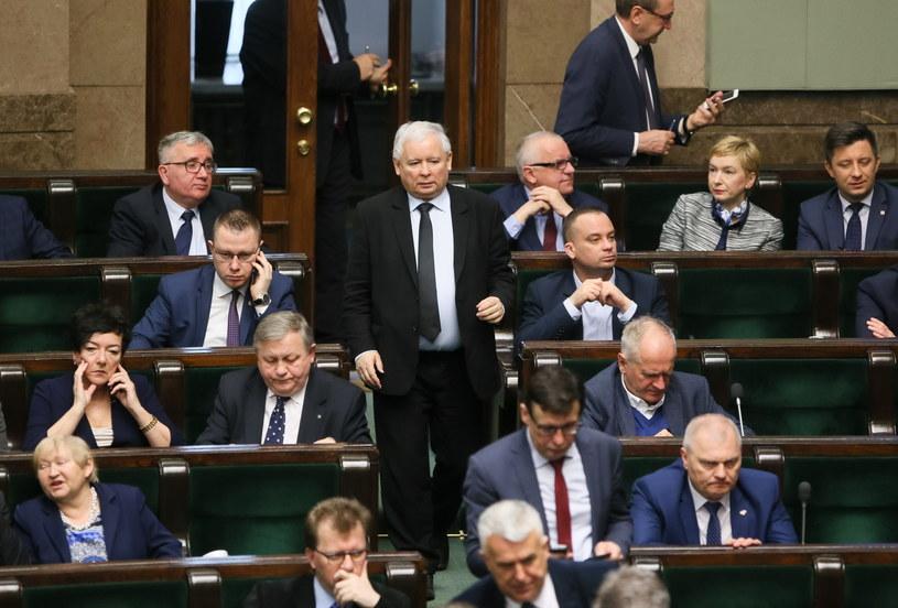 Jarosław Kaczyński w Sejmie /Paweł Supernak /PAP