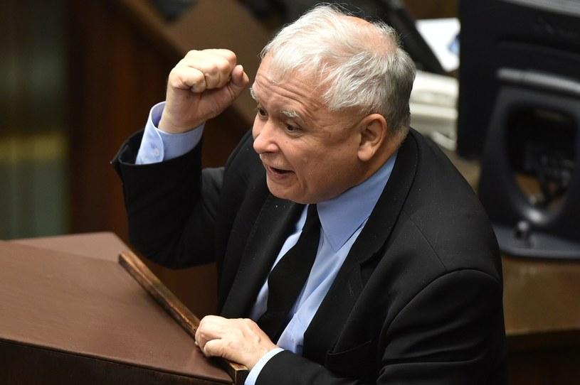 Jarosław Kaczyński w Sejmie /Rafał Oleksiewicz /Reporter