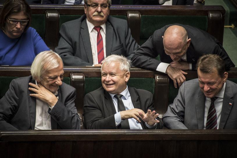 Jarosław Kaczyński w Sejmie /Jacek Domiński /Reporter