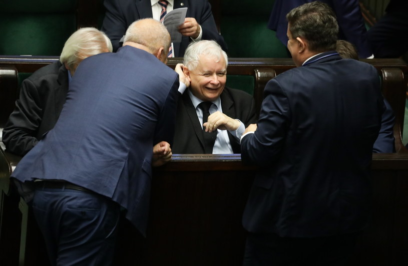 Jarosław Kaczyński w Sejmie /Tomasz Gzell /PAP
