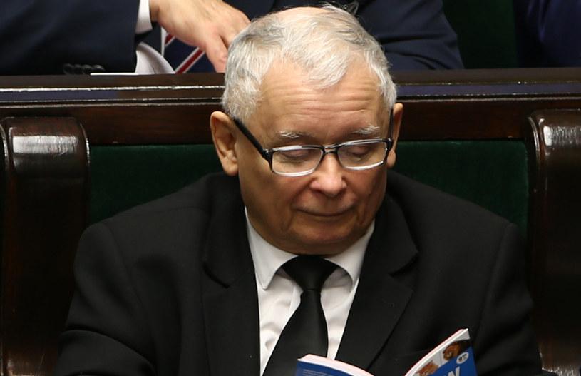 Jarosław Kaczyński w Sejmie /Krystian Maj /Agencja FORUM