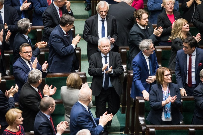 Jarosław Kaczyński w Sejmie /Aleksandra Szmigiel /Reporter