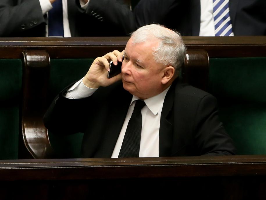 Jarosław Kaczyński w Sejmie / Tomasz Gzell    /PAP