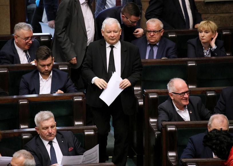 Jarosław Kaczyński w Sejmie /Piotr Molecki /East News