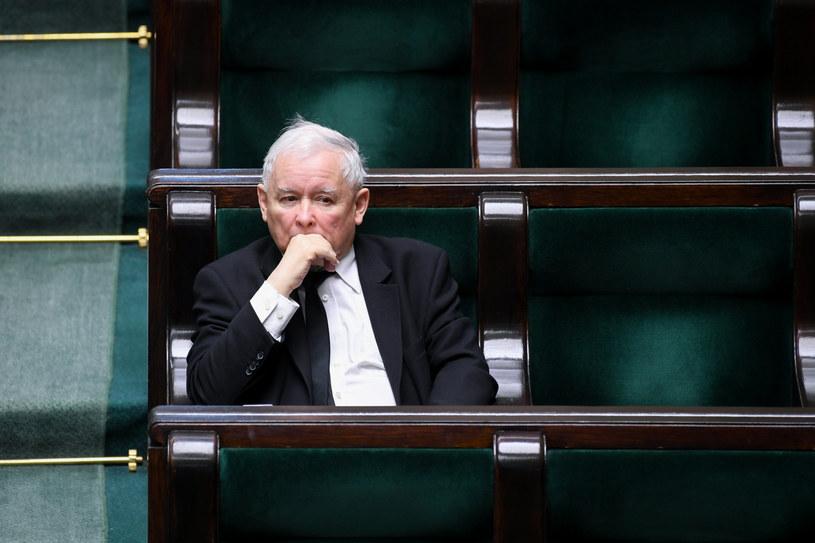 Jarosław Kaczyński w Sejmie /Jacek Dominski/ /Reporter