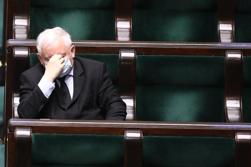 Jarosław Kaczyński w Sejmie /Tomasz Jastrzębowski /Reporter