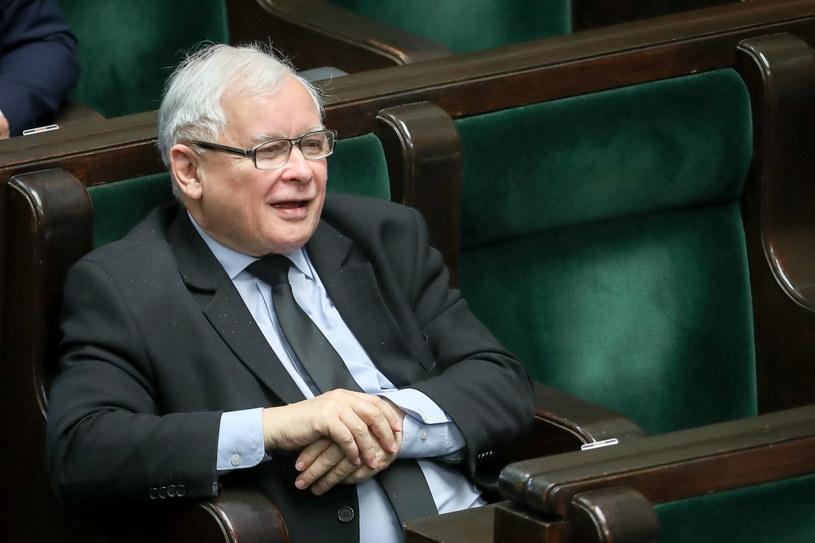 Jarosław Kaczyński w Sejmie /Andrzej Iwańczuk /Reporter