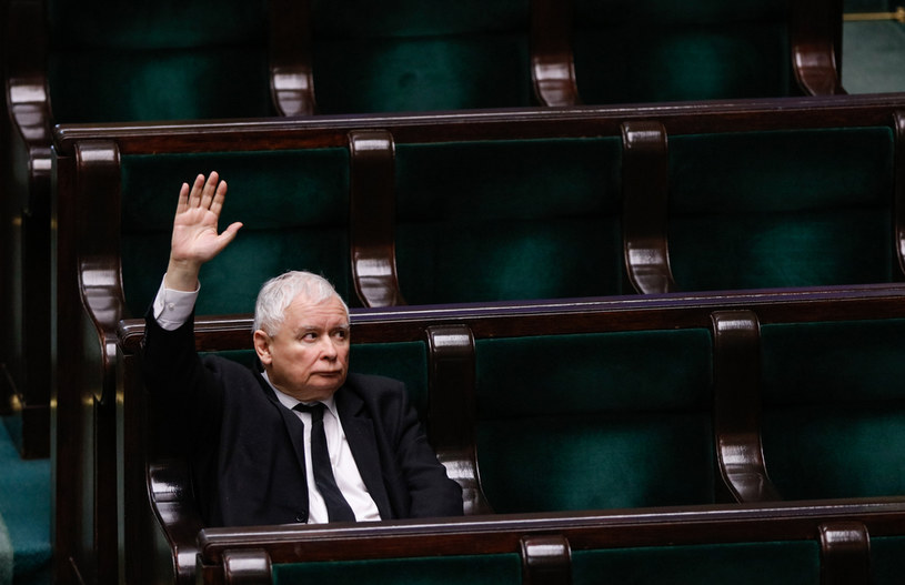 Jarosław Kaczyński w Sejmie /Jerzy Dudek /Agencja FORUM