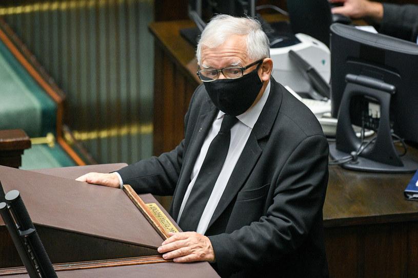 Jarosław Kaczyński w Sejmie / Jacek Dominski /REPORTER /Reporter