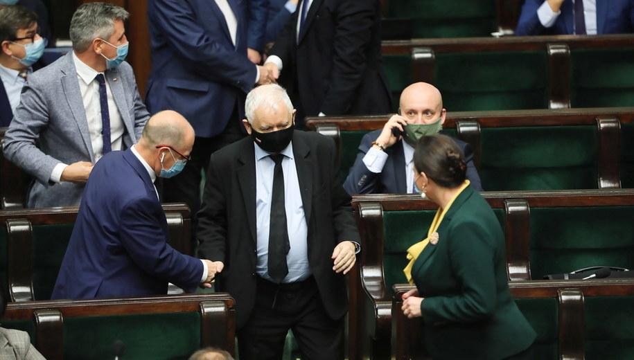 Jarosław Kaczyński w Sejmie /Wojciech Olkuśnik /PAP