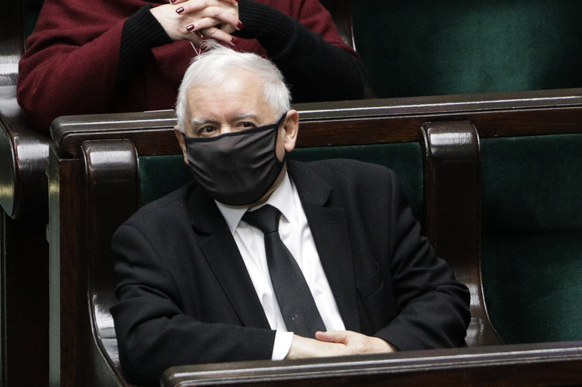 Jarosław Kaczyński w Sejmie /Andrzej Hulimka/Forum /Agencja FORUM