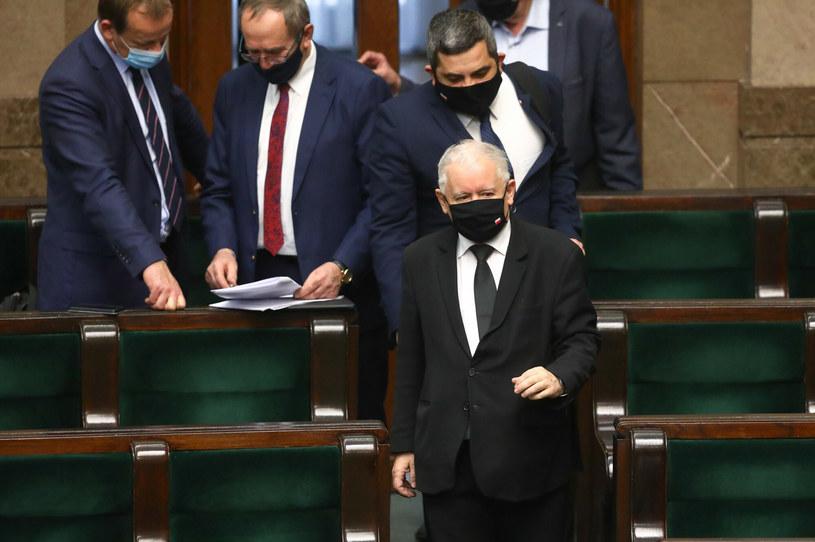 Jarosław Kaczyński w Sejmie /Tomasz Jastrzebowski/REPORTER /Reporter