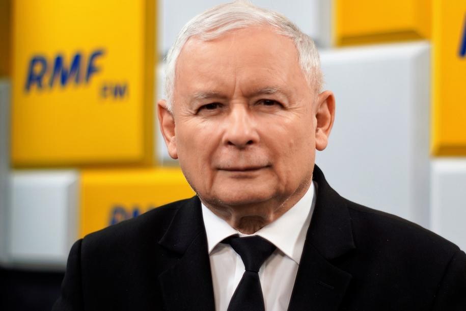 Jarosław Kaczyński w studiu RMF FM /Karolina Bereza /RMF FM